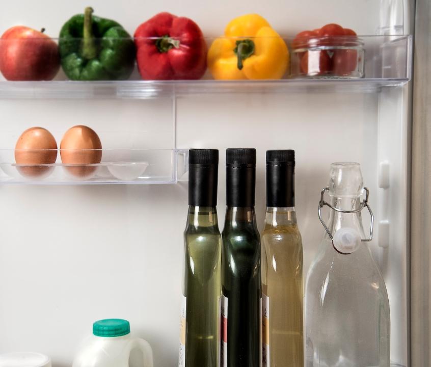 flat bottle in fridge