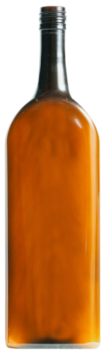Amber flat wine bottle