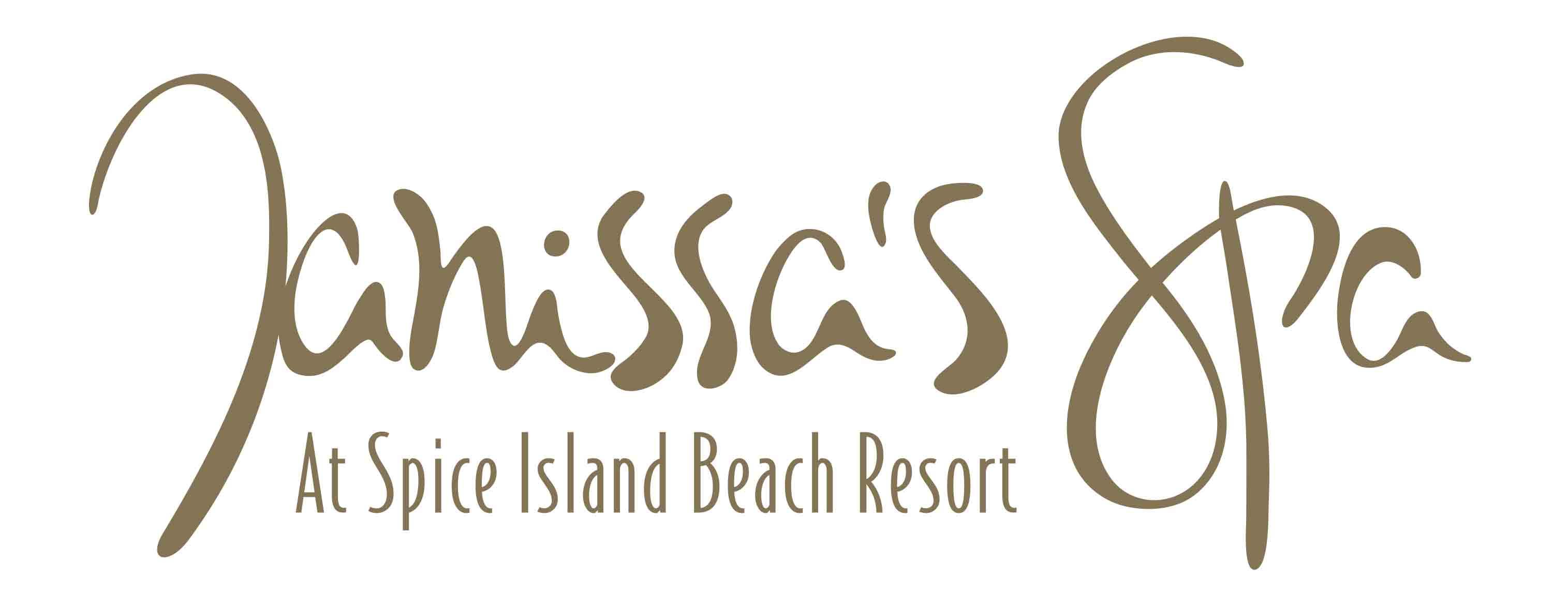 Janissa's spa logo at Spice Island Beach Resort in Grenada