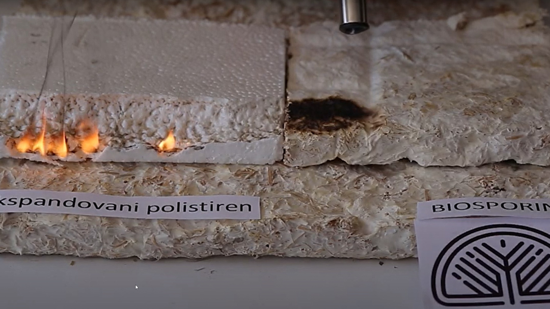 Biodegradable mushroom mycelium material Soma Biosporin