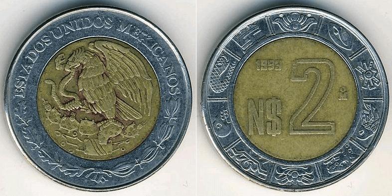 Resultado de imagen para moneda de dos pesos