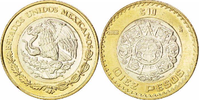 Resultado de imagen para moneda de diez pesos
