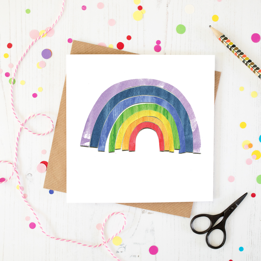 Rainbow Blank Greetings Card