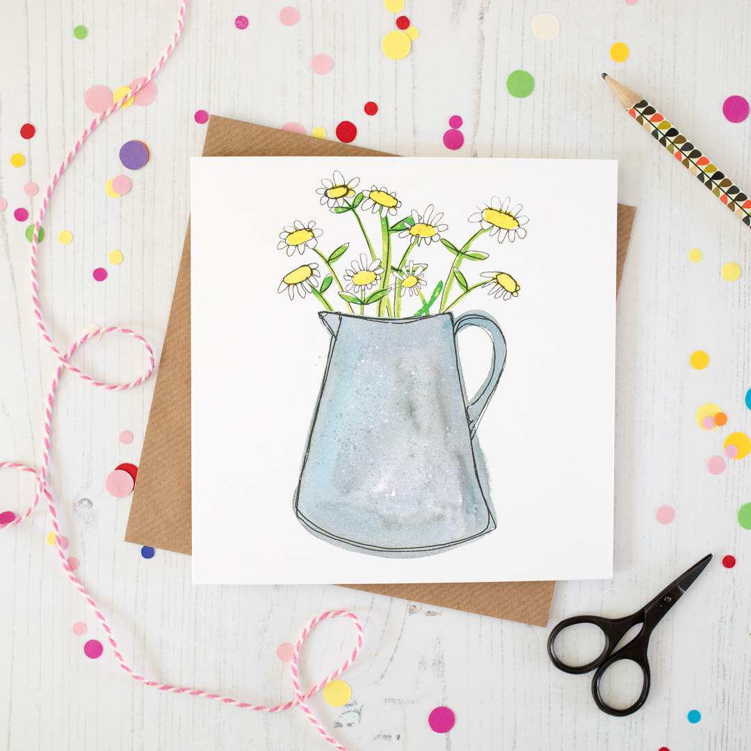 Blank Daisy Greetings Card