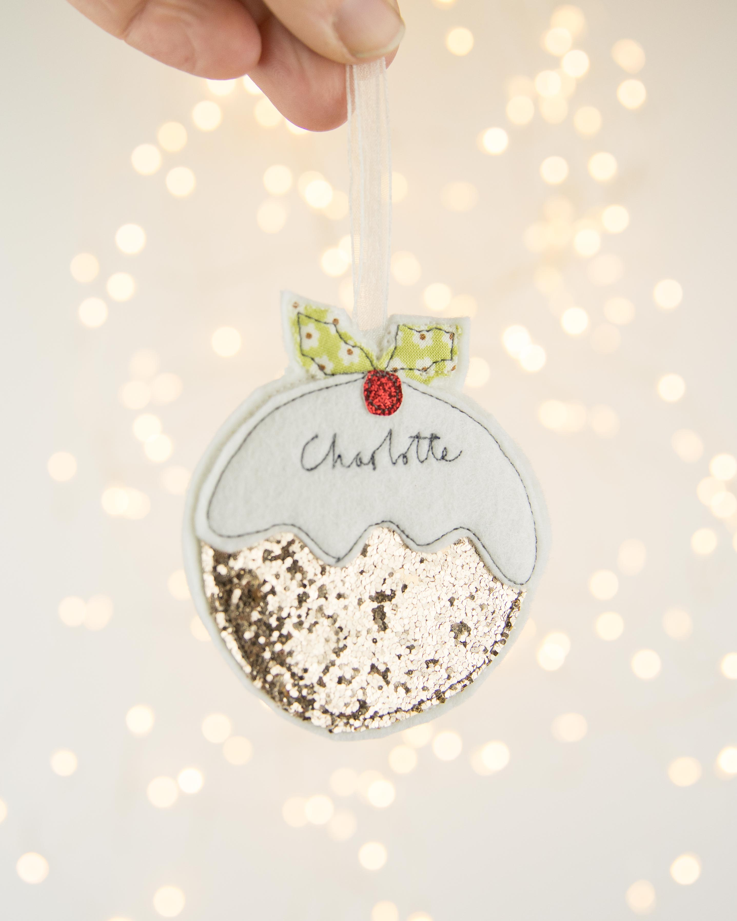 Personlised Christmas Pudding Decoration