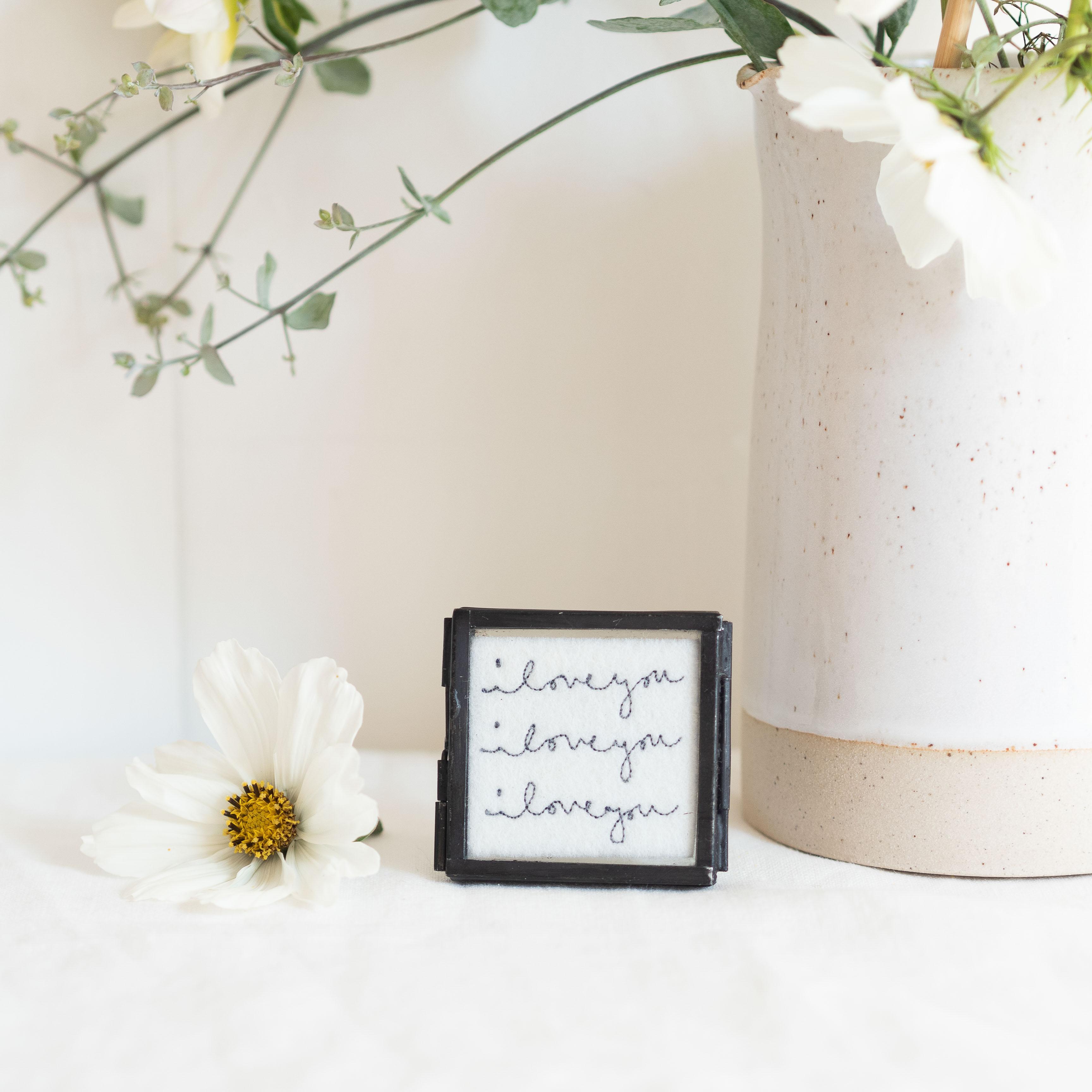 Custom Mini Framed Embroidery