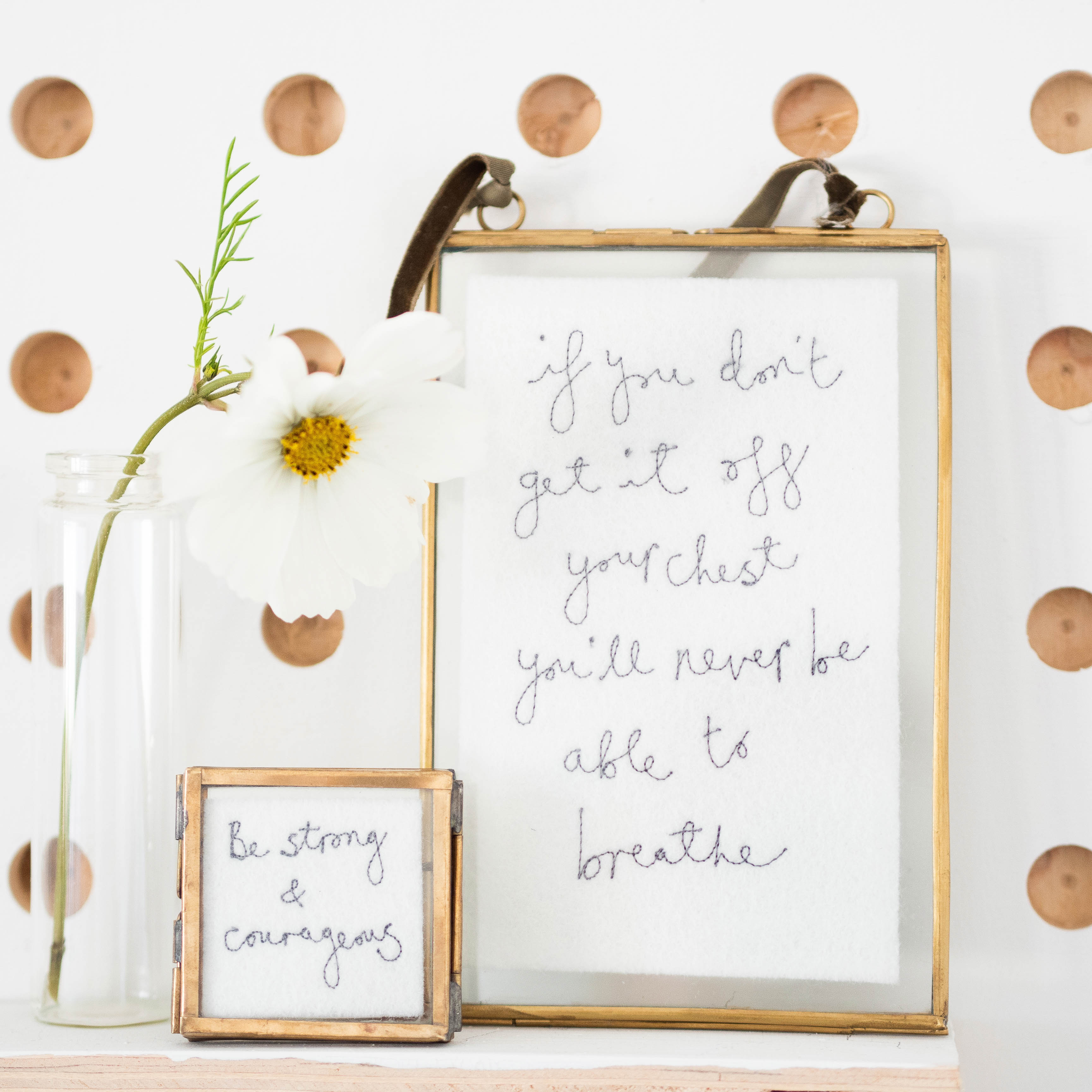 Inspirational Embroidery Frame
