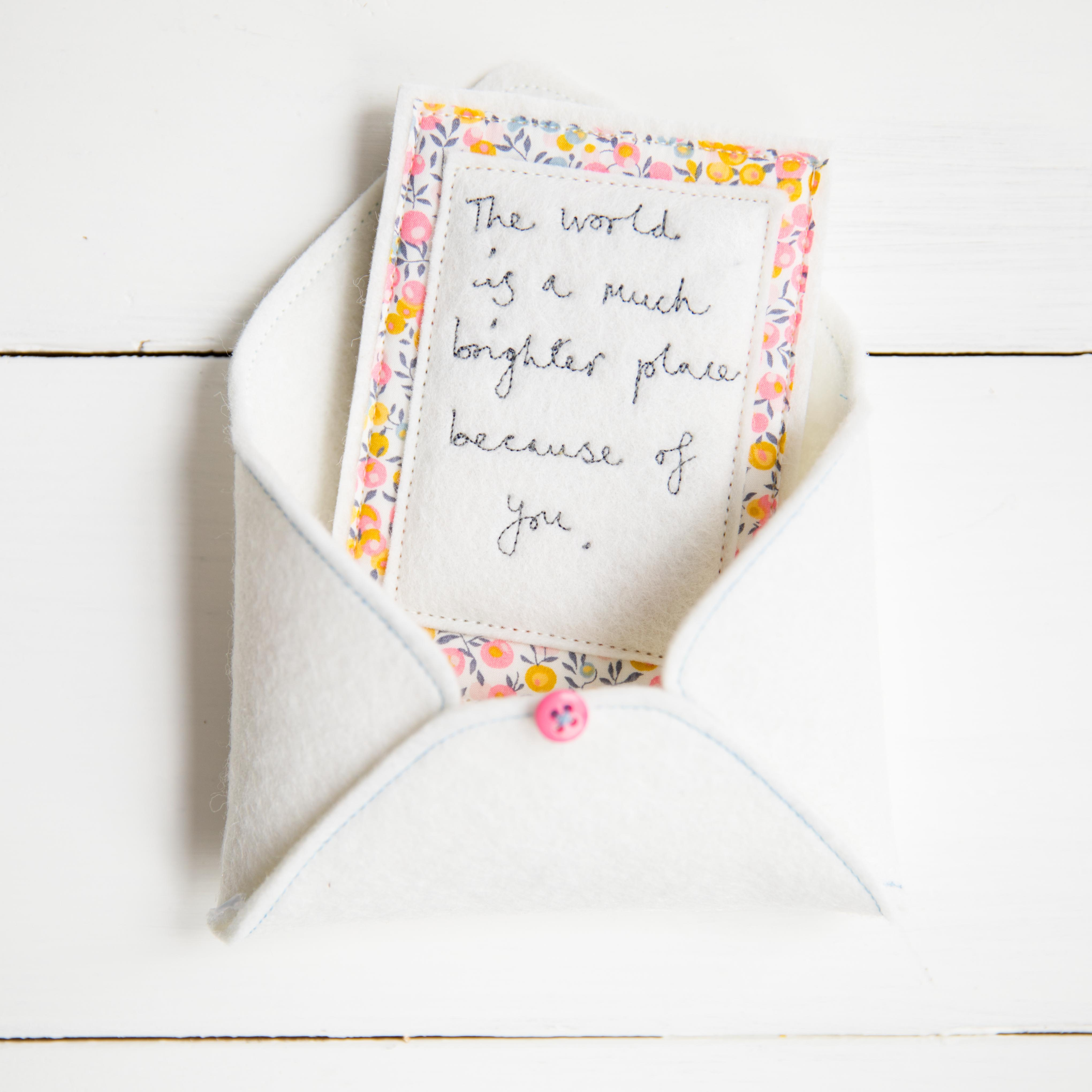 Hand stitched notes