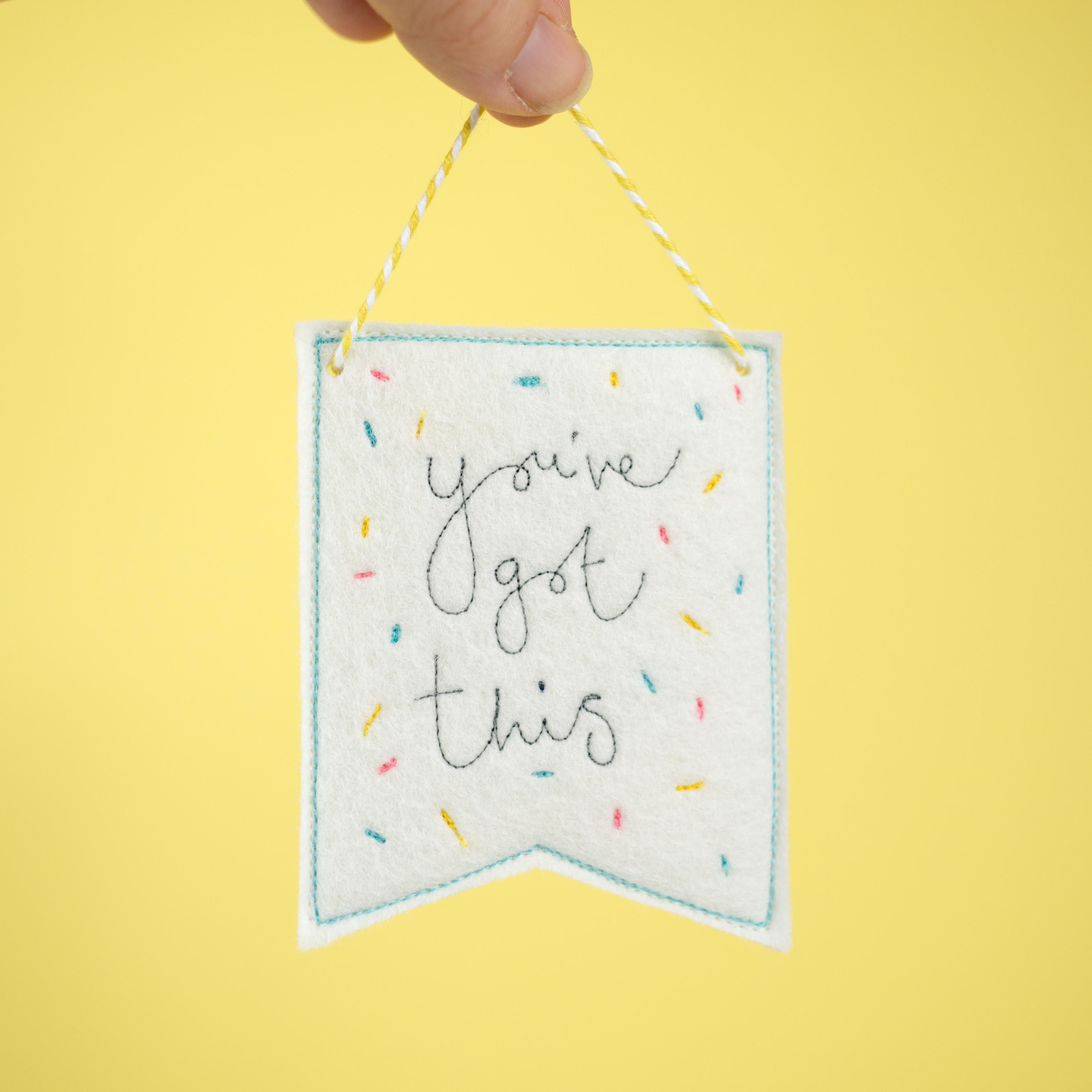 You've got this sprinkle banner