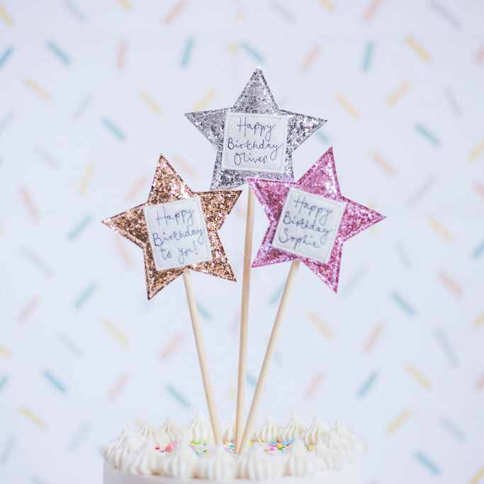 Sparkly Star Cake Topper