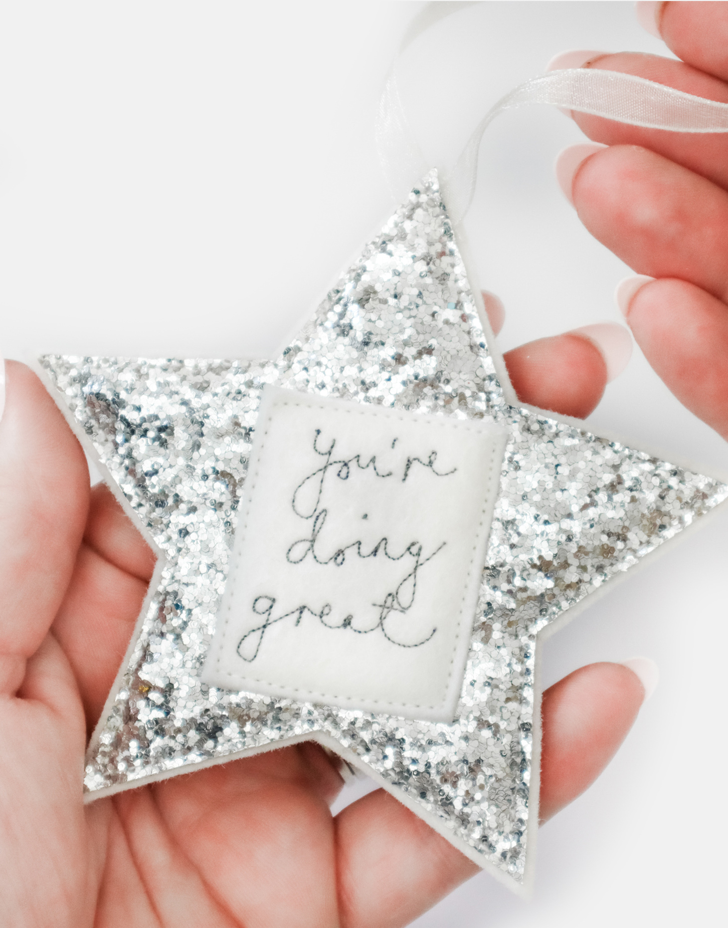 Custom Sparkly Star Decorations