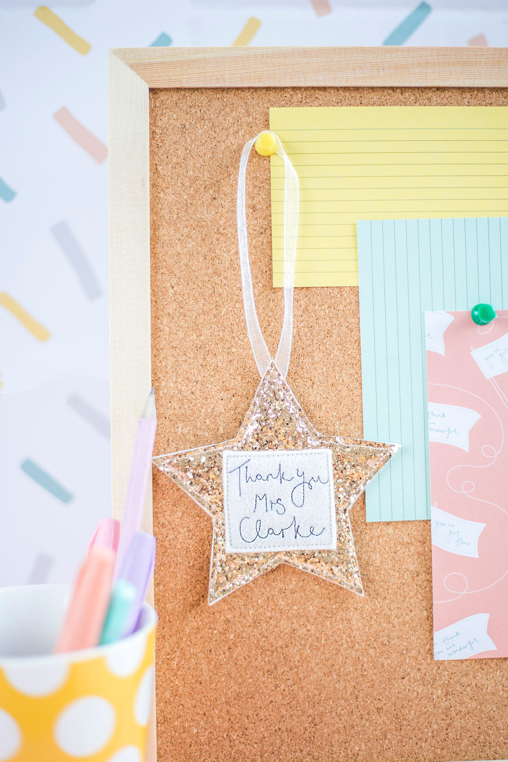 Thank You Teacher Gift – Hanging Sparkly Star Decorations