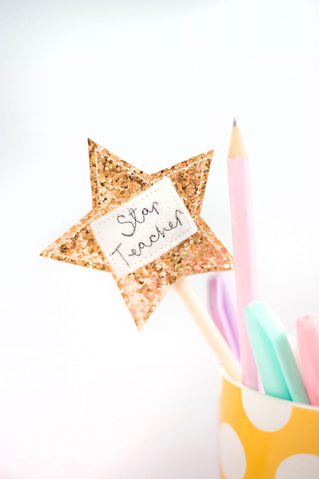 Thank You Teacher Gift – Pen Pot Star Topper