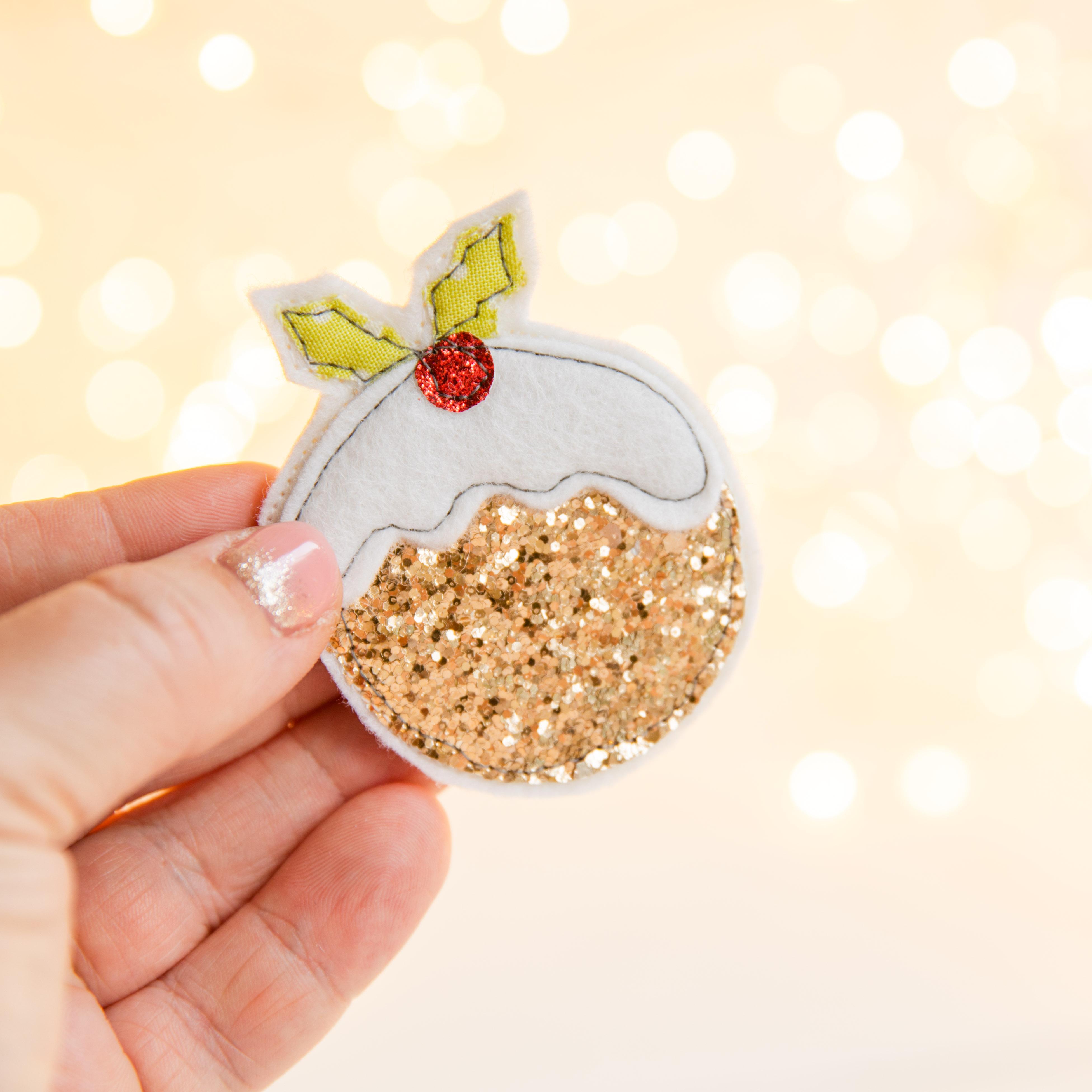 Christmas Pudding Badge