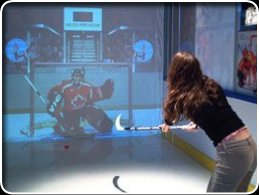 hockey girl shooting