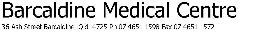 Barcaldine Medical Centre