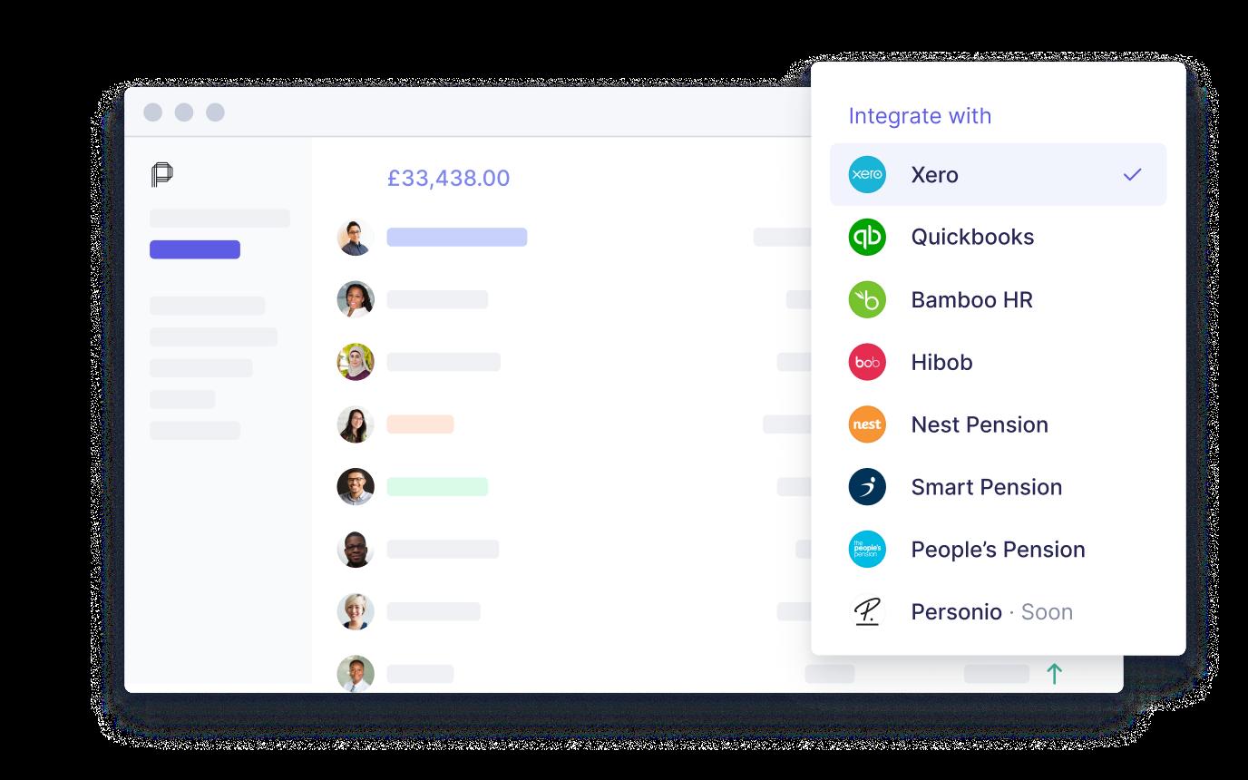 xero's payroll integration