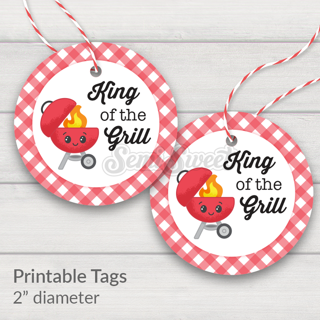 king of the grill printable tag