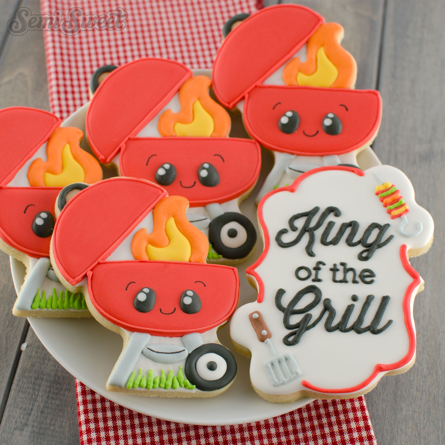 How to Make BBQ Grill Cookies by SemiSweetDesigns.com