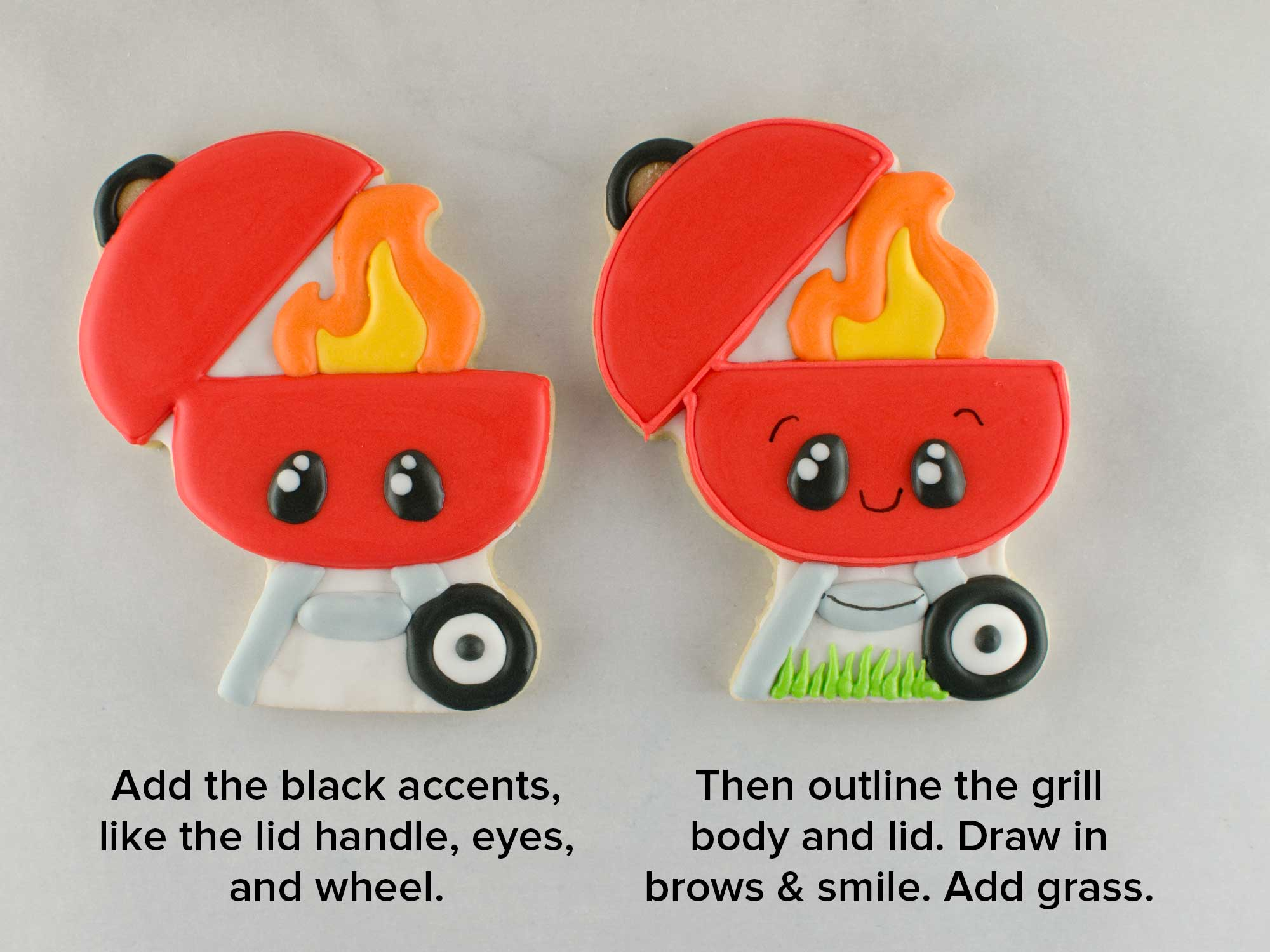 bbq grill cookies step 5