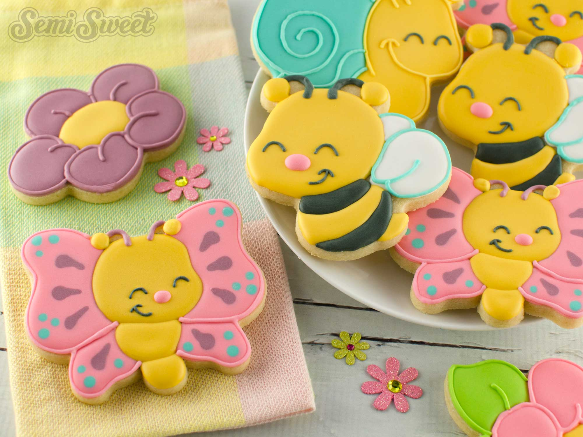 How to make butterfly cookies by SemiSweetDesigns.com
