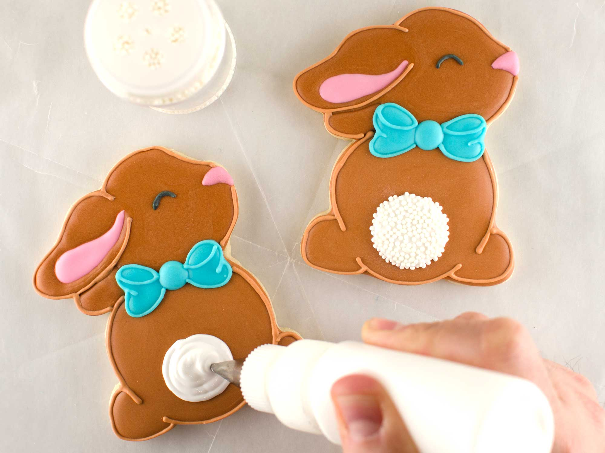 cottontail bunny cookies step 5