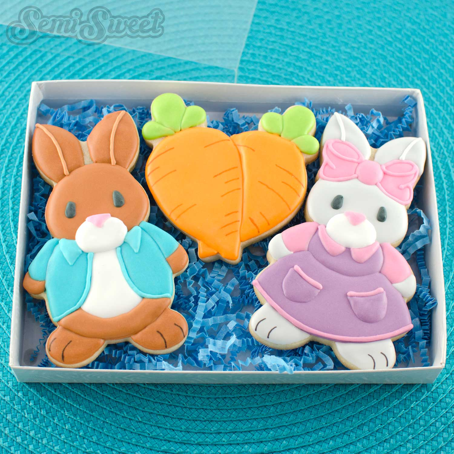 peter rabbit cookies in papermart box