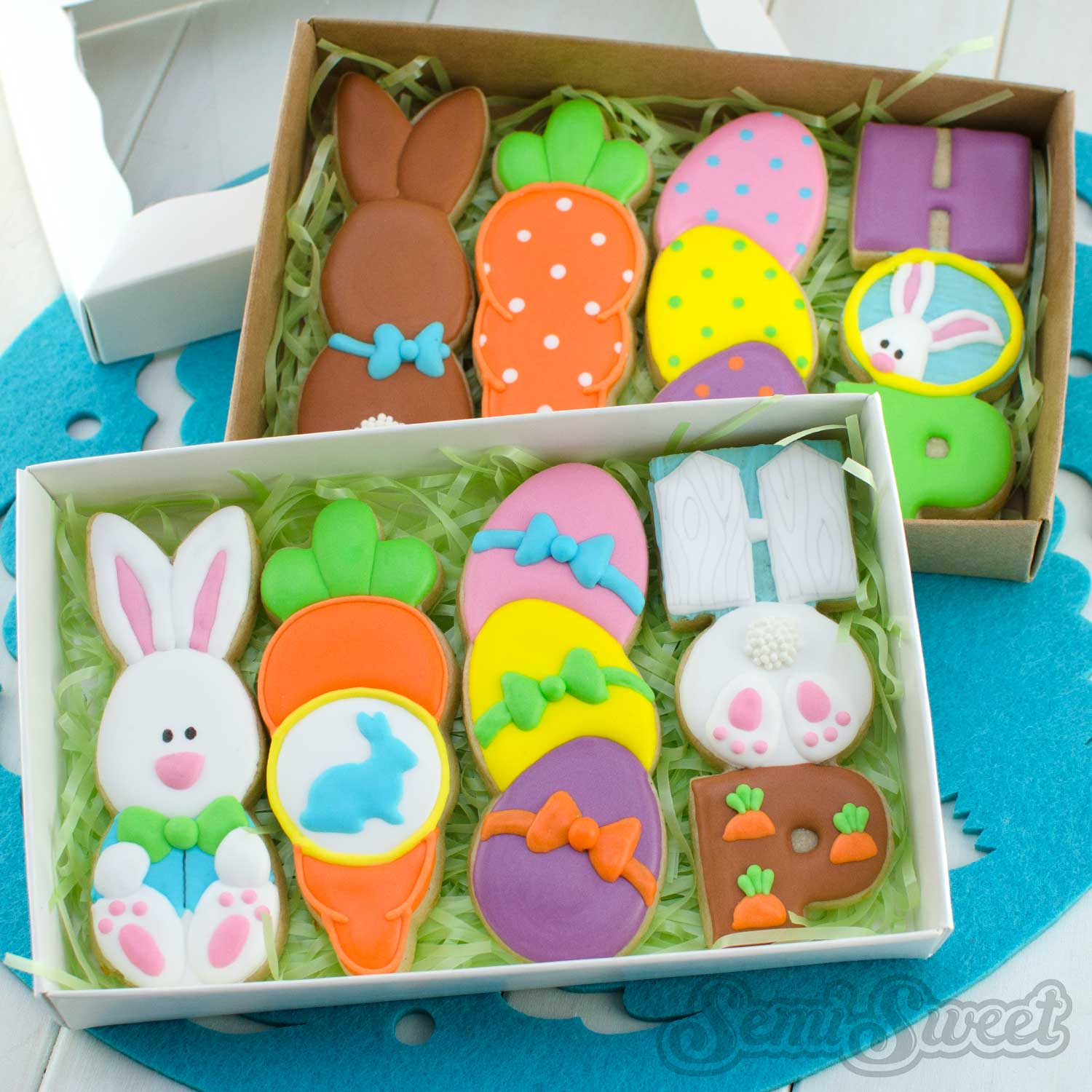 Easter Stick Cookies by Semi Sweet Designs