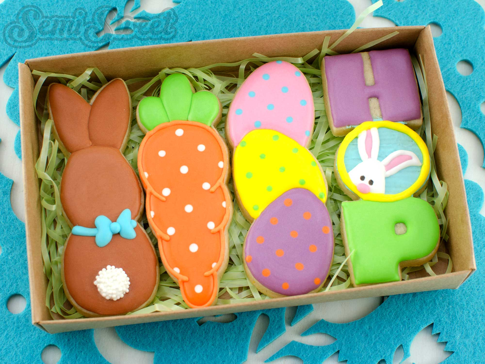 easter stick cookies in a box