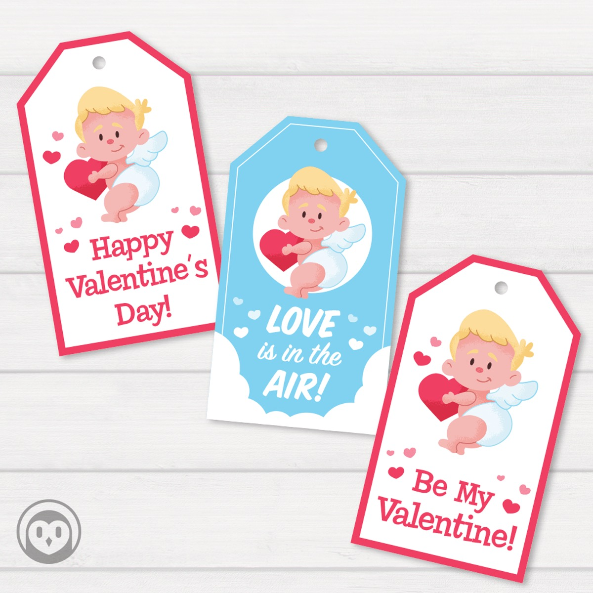 cupid cookie tags