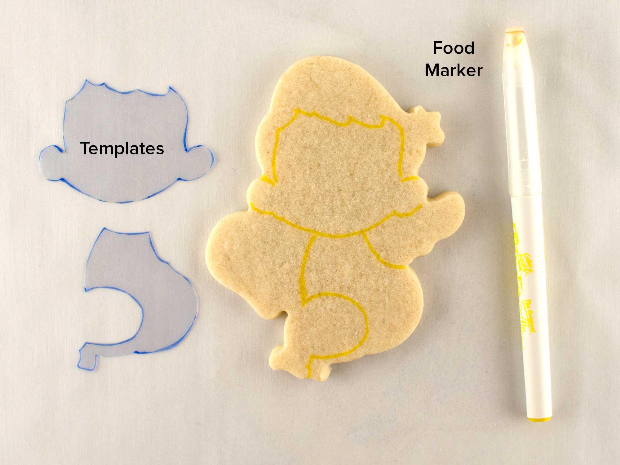 cupid cookies step 1