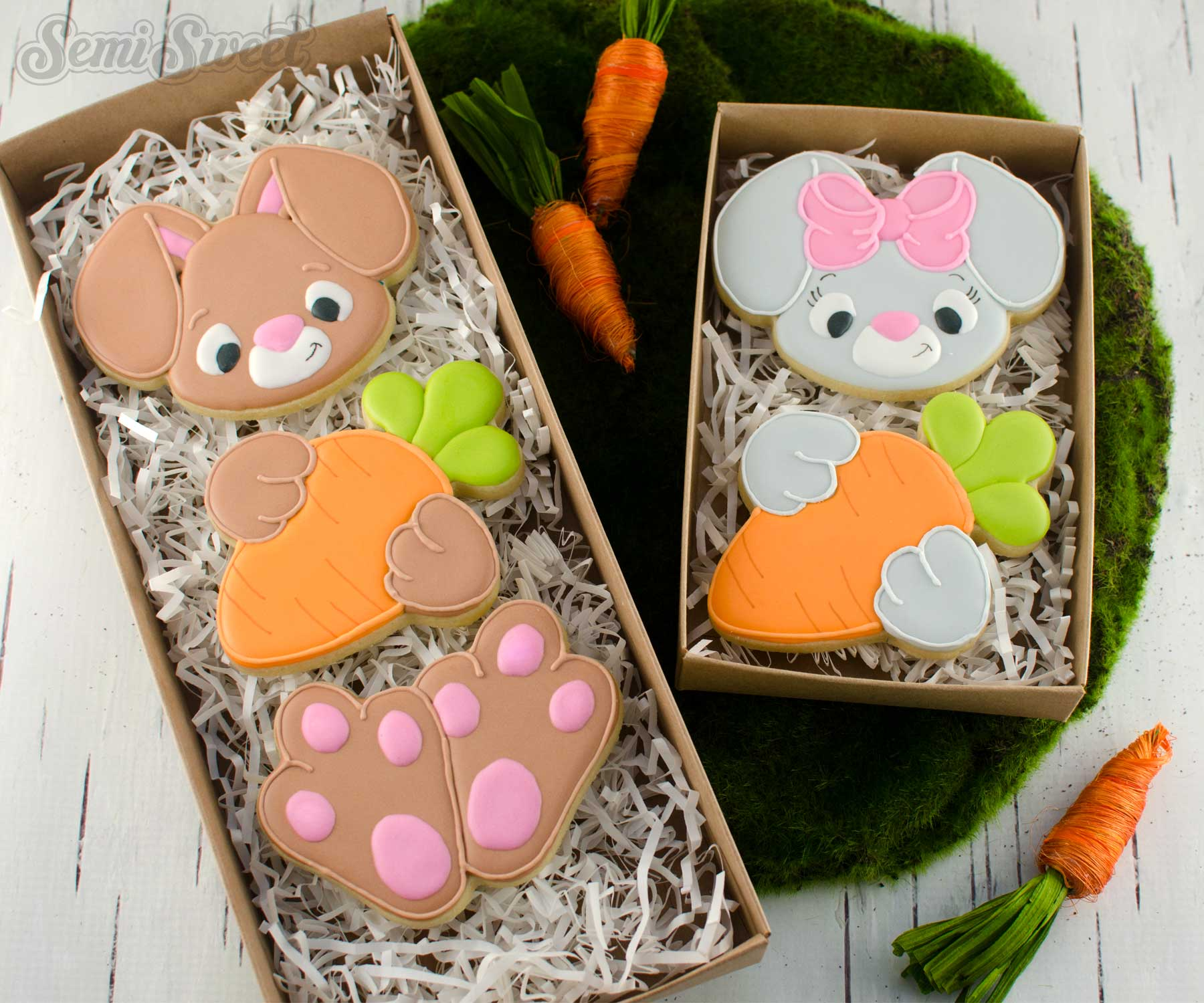 bunny body cookie sets by SemiSweetDesigns.com