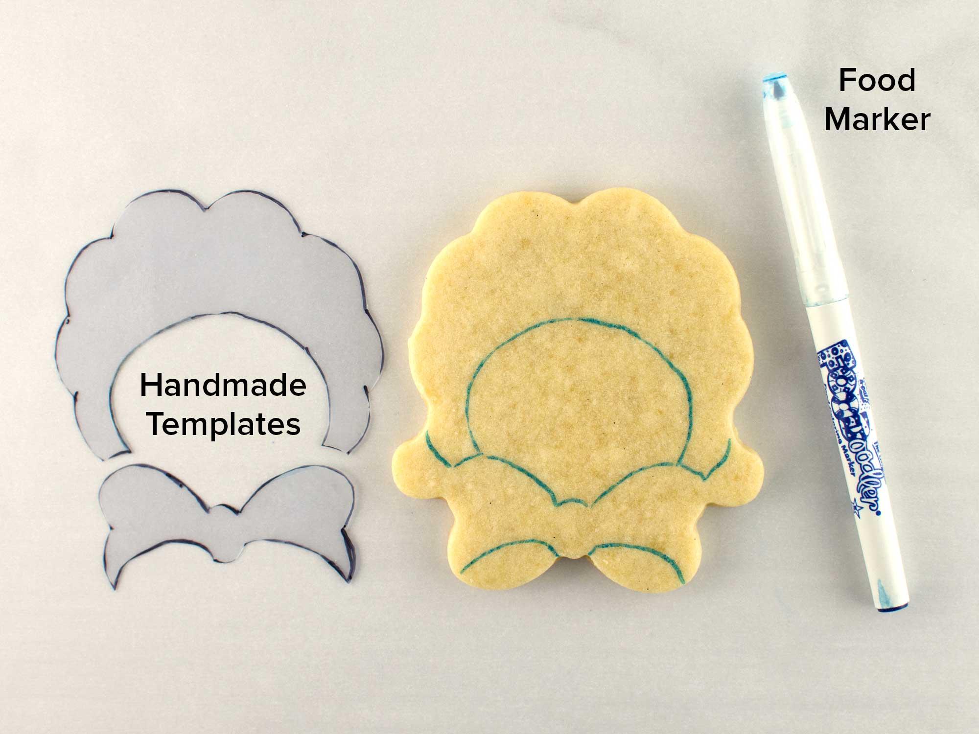 bow tie lamb cookies step 1