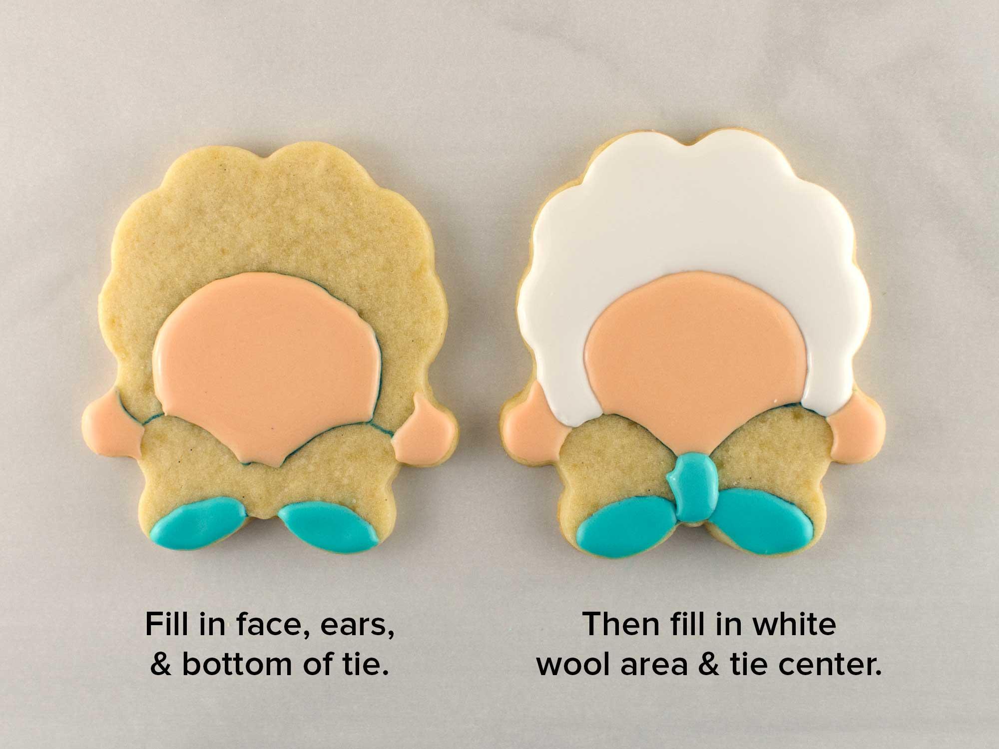 bow tie lamb cookies step 2