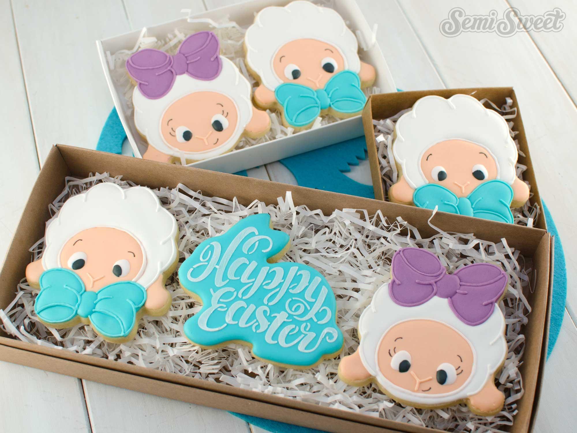 easter lamb cookies by SemiSweetDesigns.com