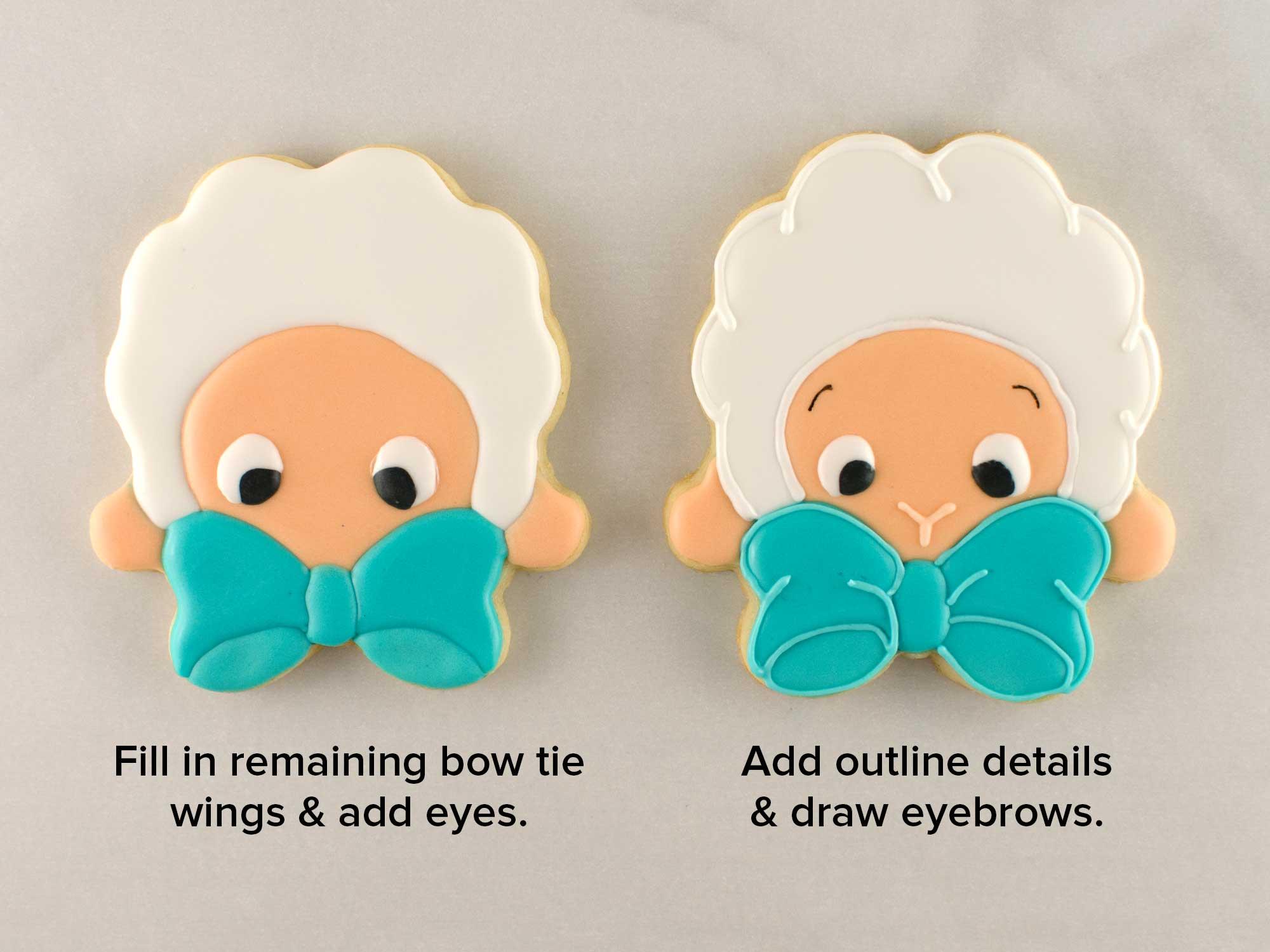 bow tie lamb cookies step 3