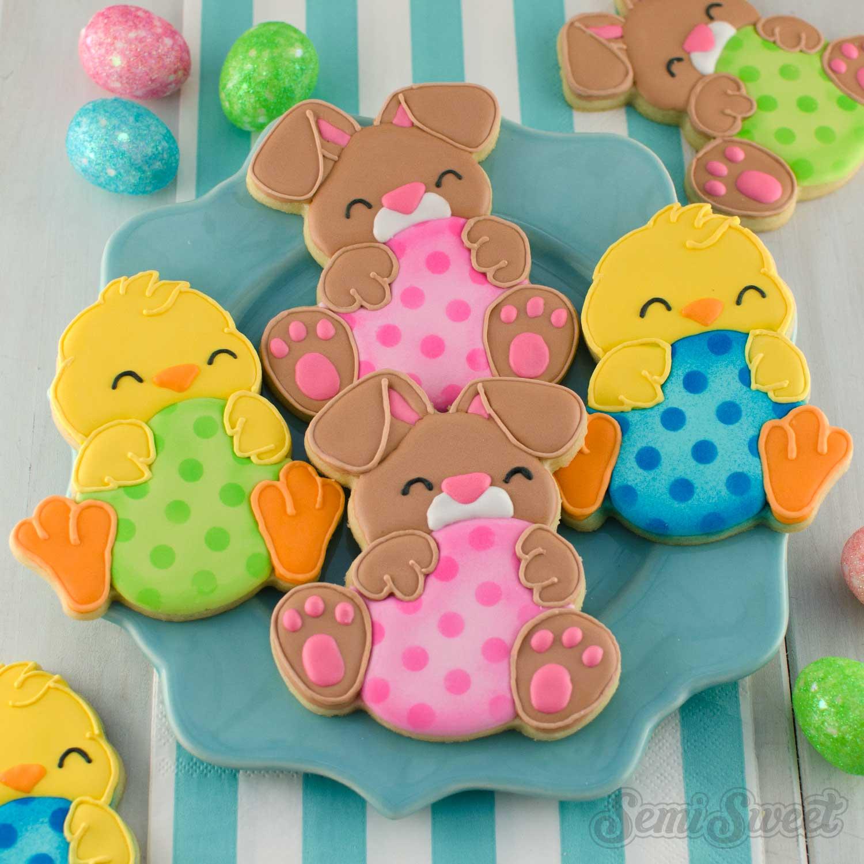 egg hugger Easter cookies by SemiSweetDesigns.com