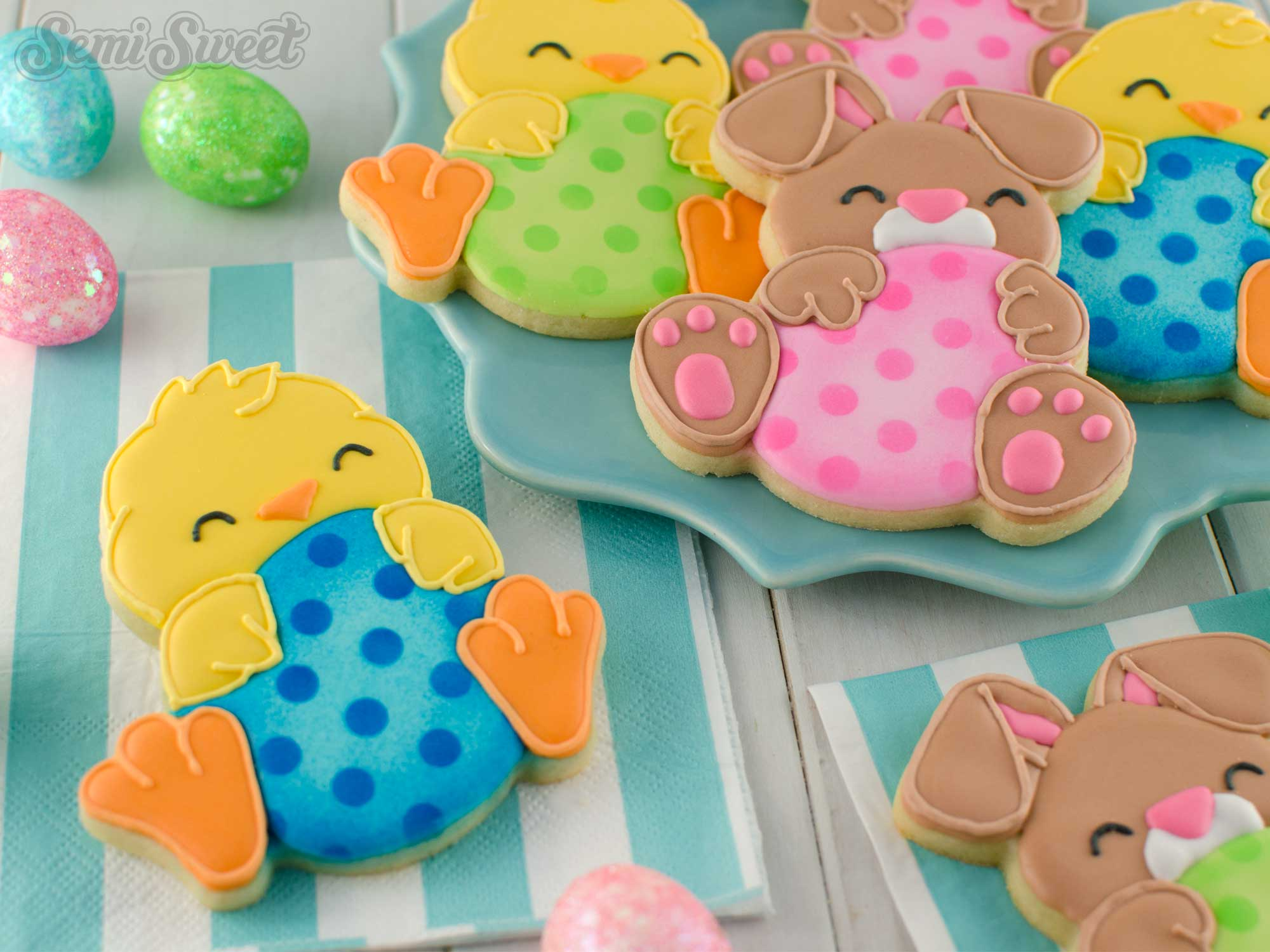 how to make egg hugger cookies by SemiSweetDesigns.com