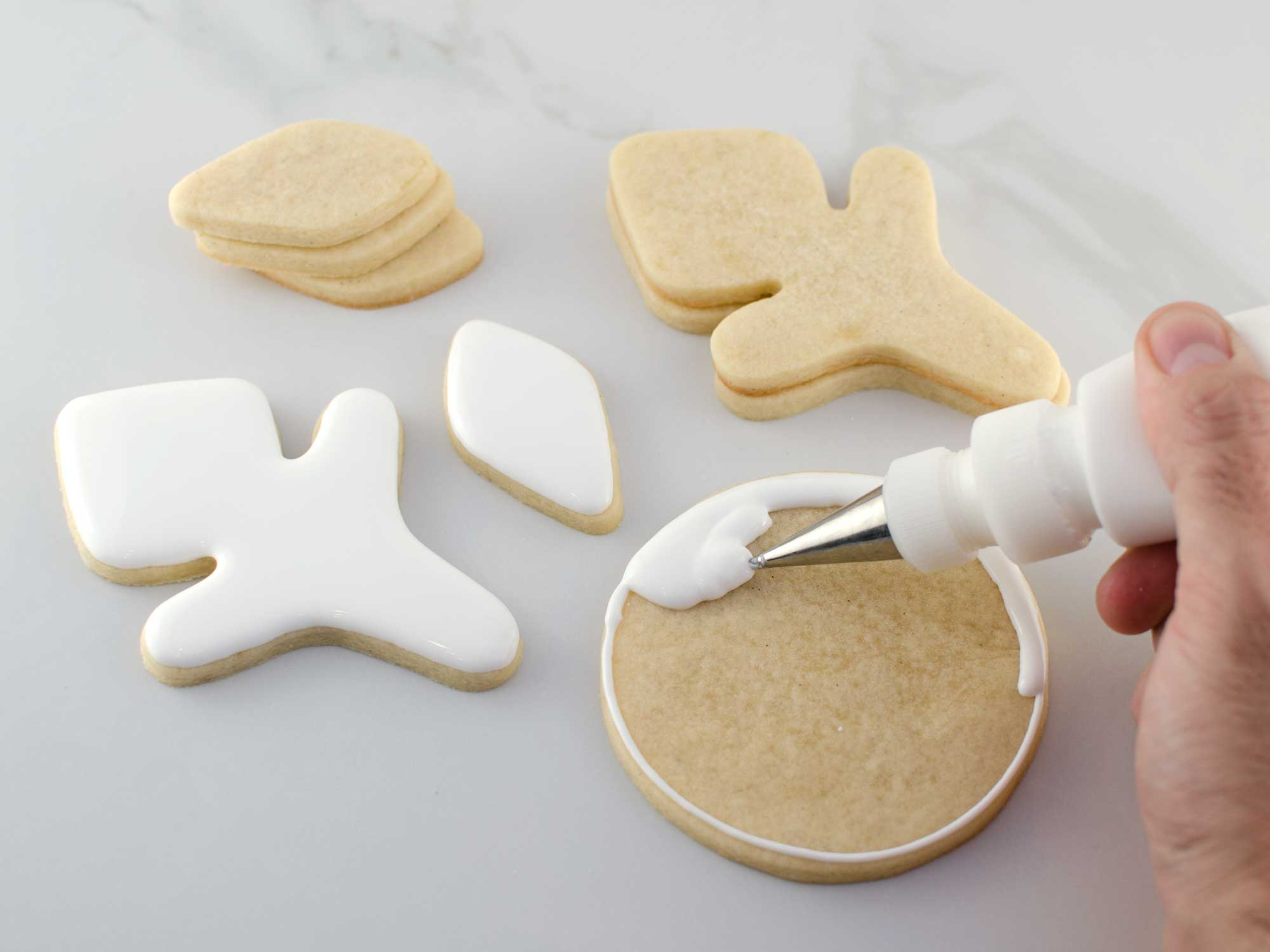 snowflake cookie platter step 1