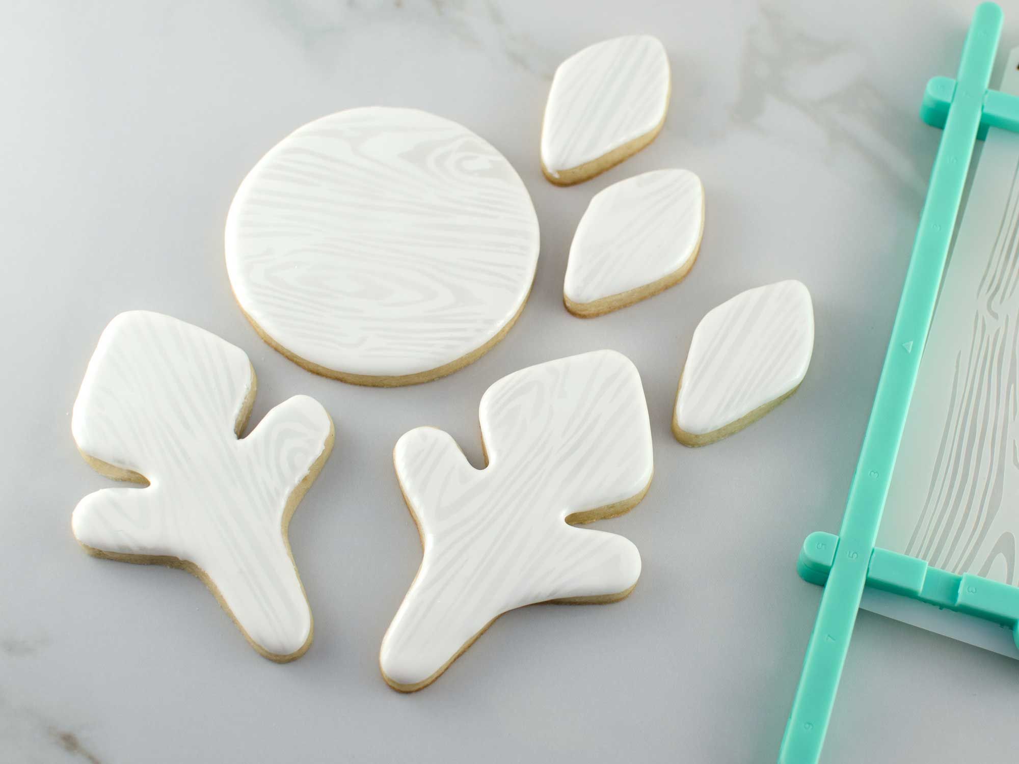 snowflake cookie platter step 4