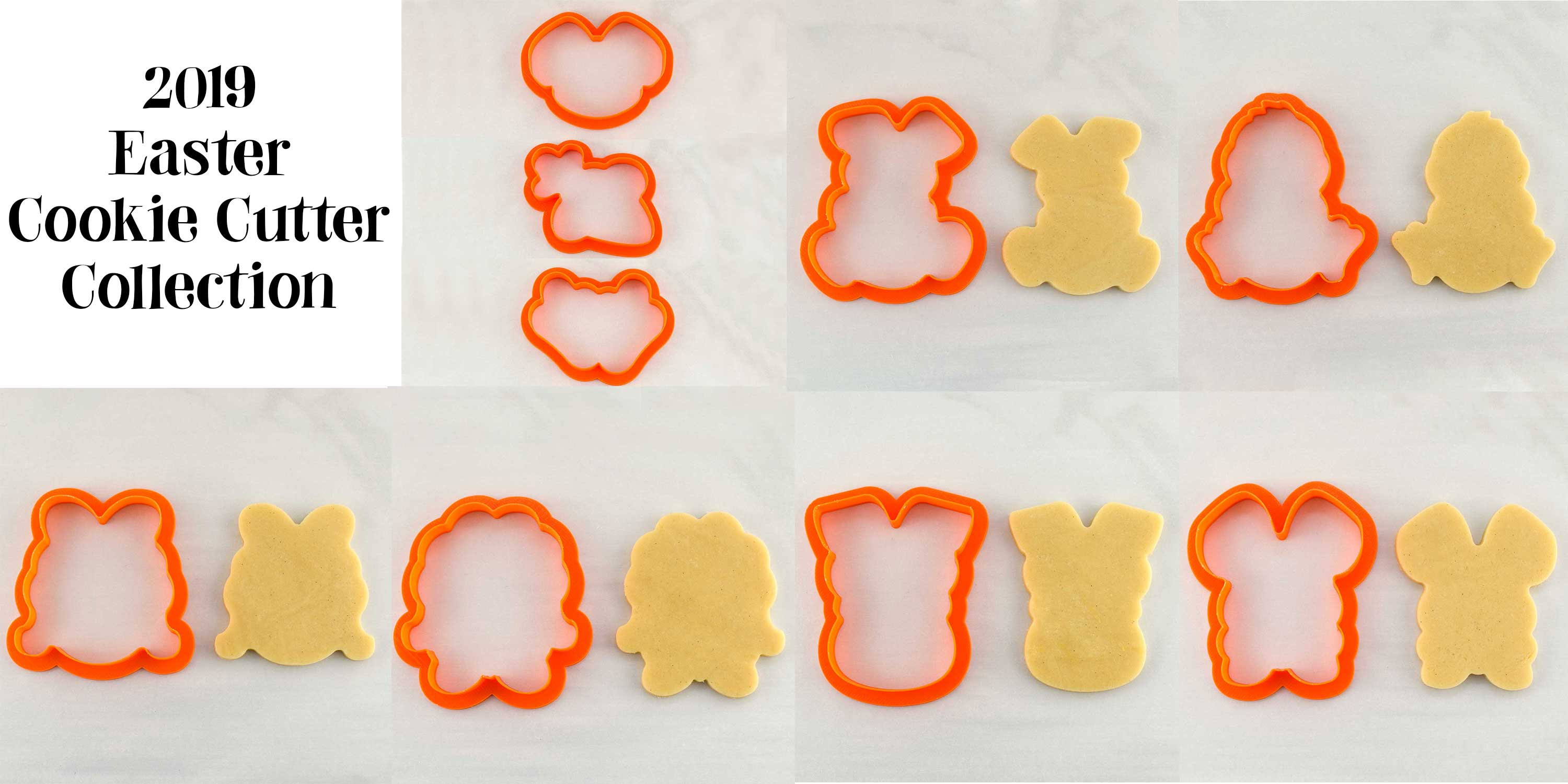 2019 Easter Cookie Cutters by SemiSweetDesigns.com