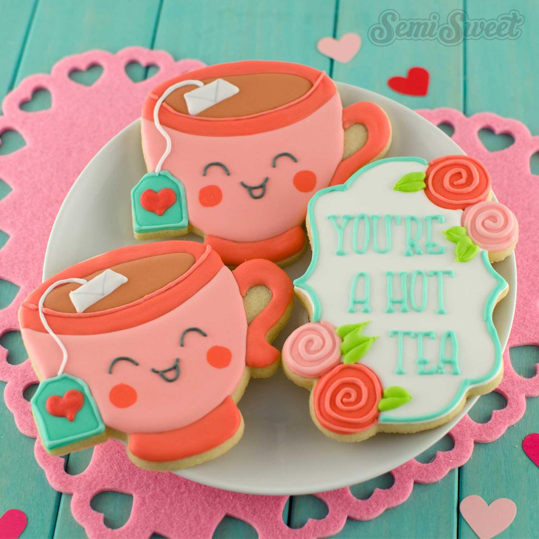 teacup cookies by SemiSweetDesigns.com