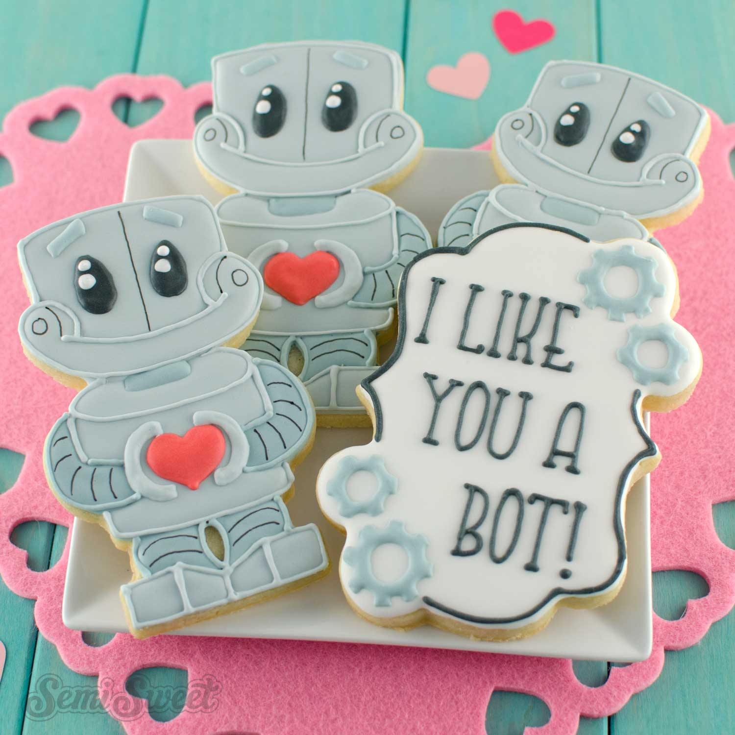 how to make robot cookies by SemiSweetDesigns.com