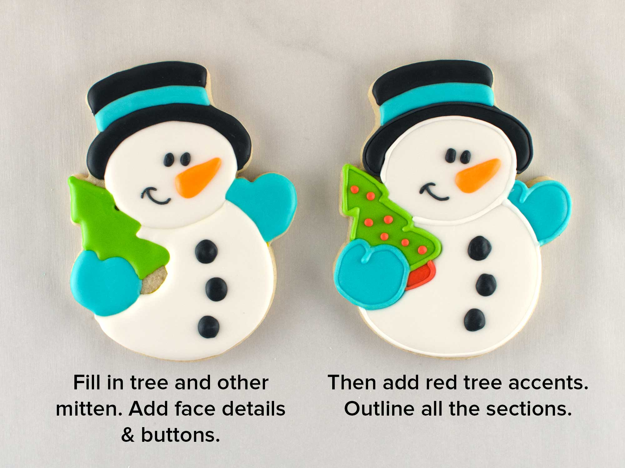 snowman cookies step 3