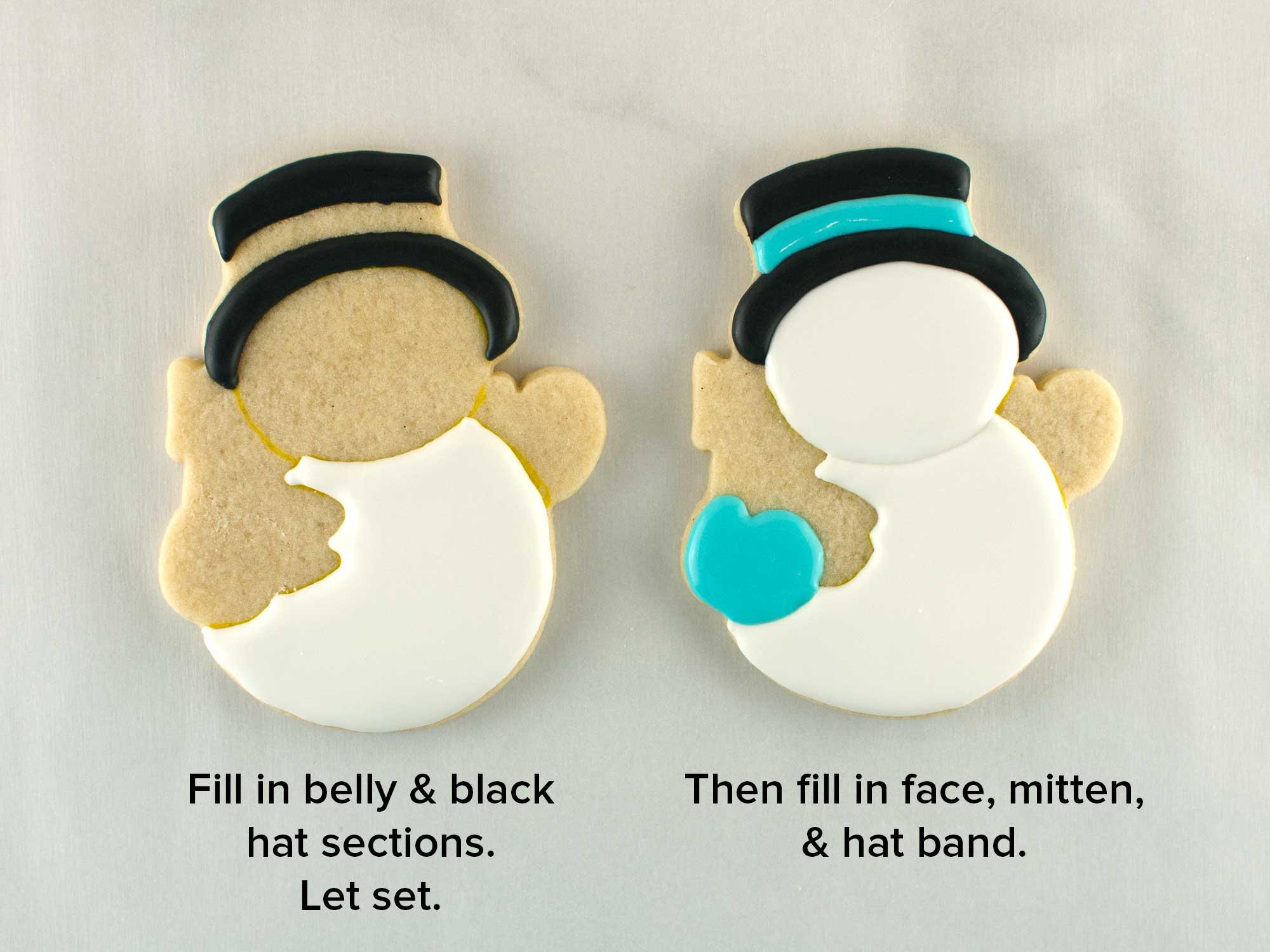 snowman cookies step 2