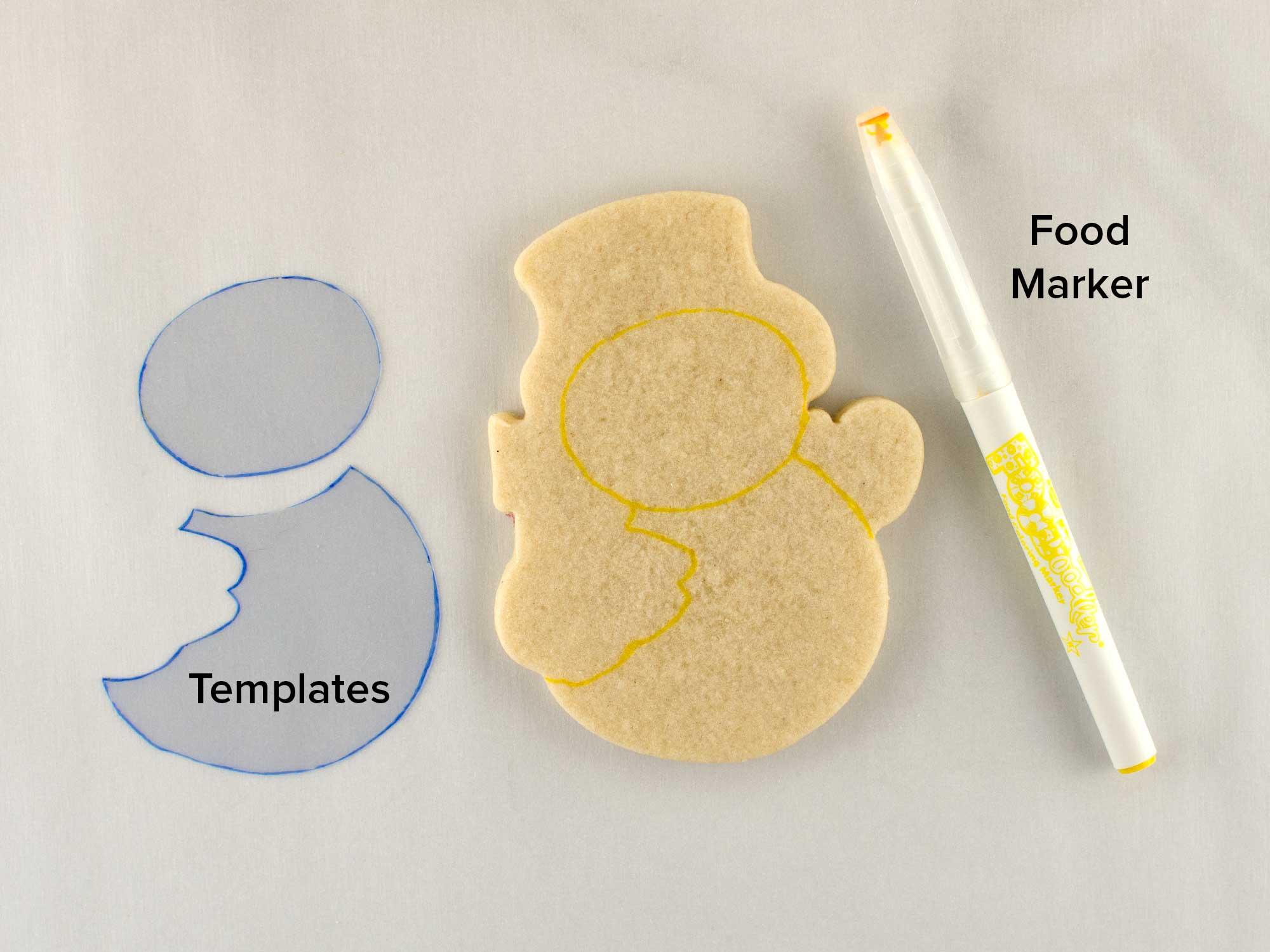 snowman cookies step 1
