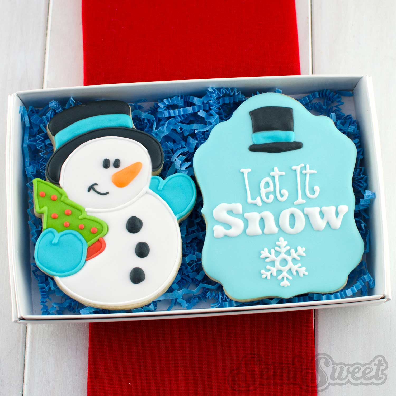 snowman cookie gift box set