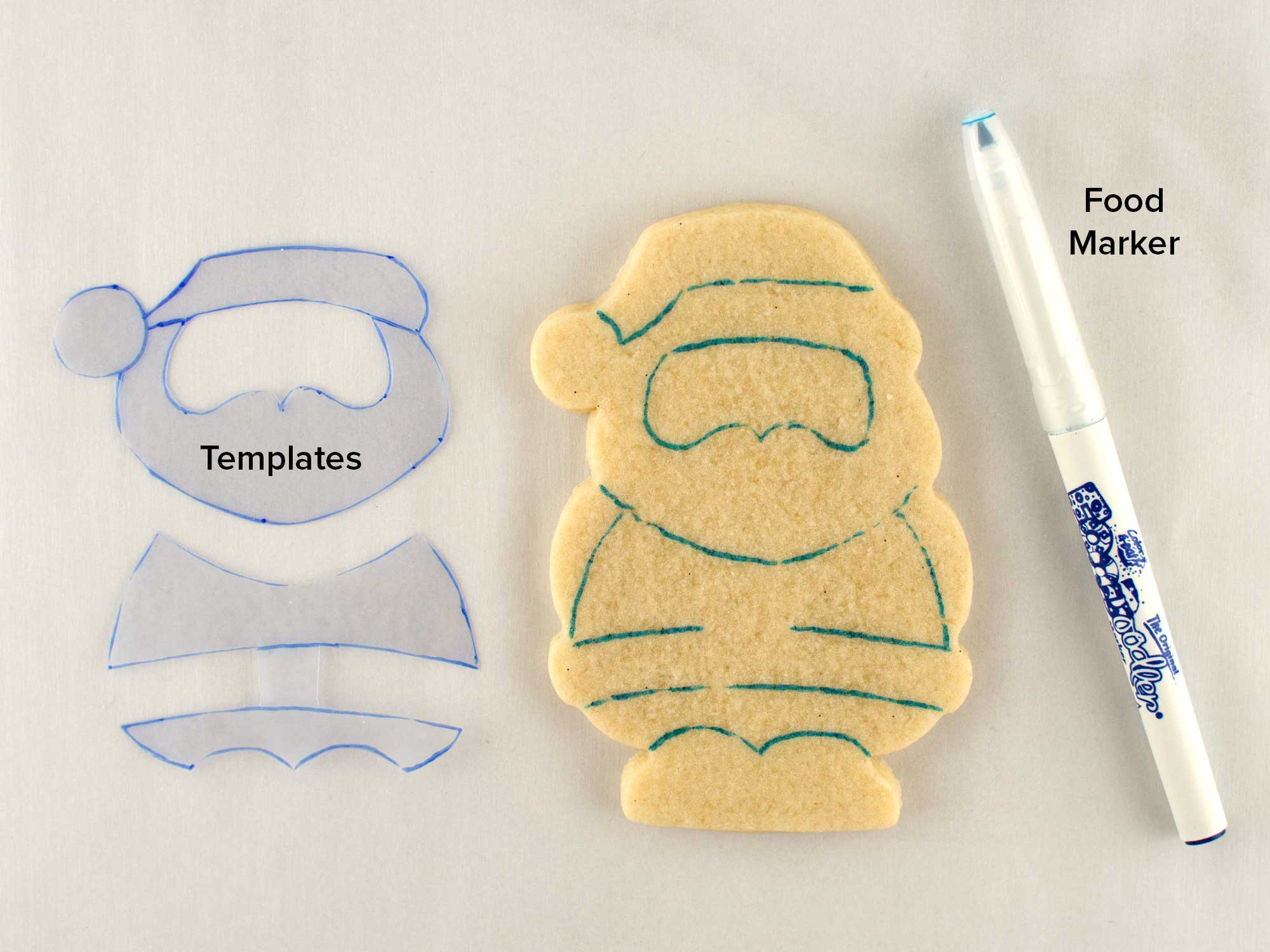 Santa Claus cookies step 1