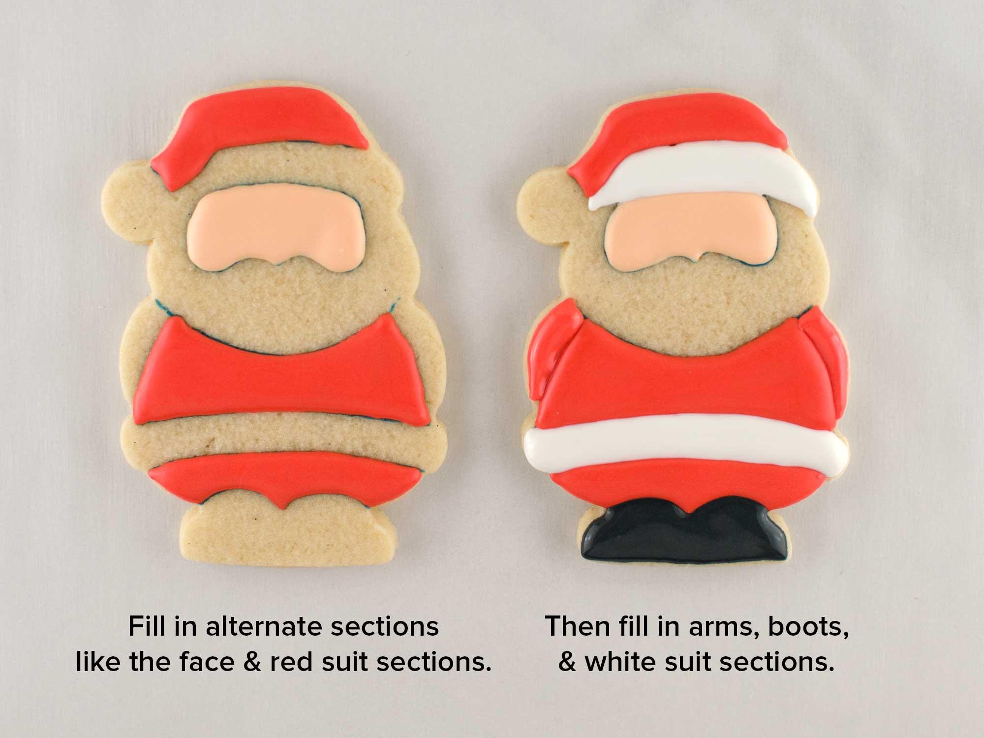 Santa Claus cookies step 2