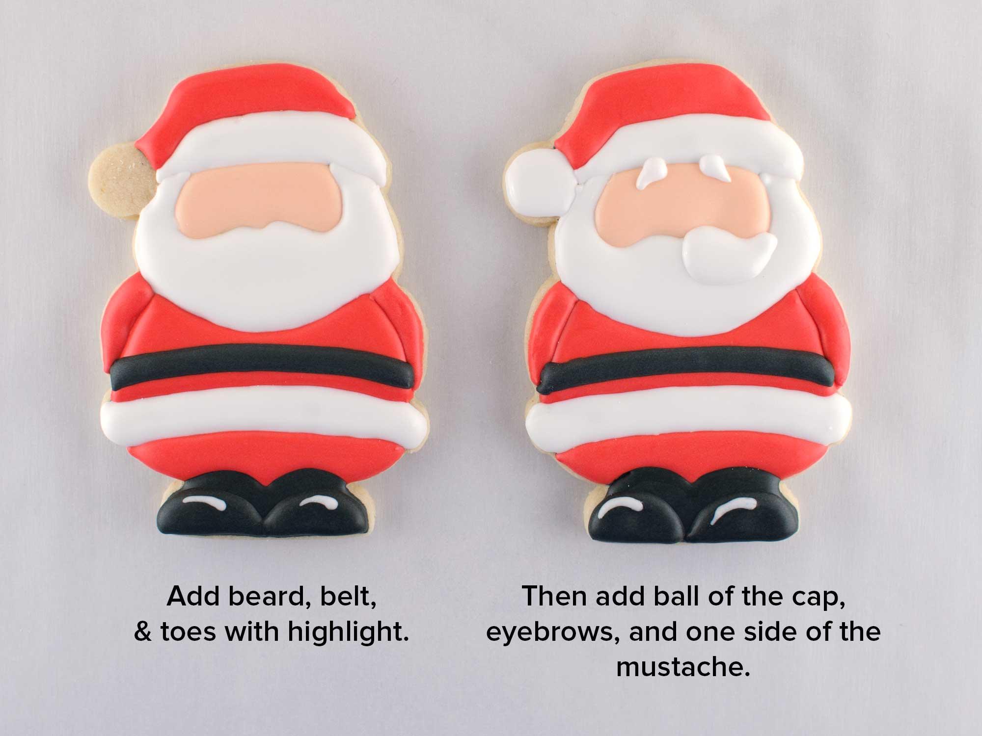 Santa Claus cookies step 3